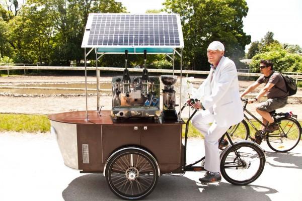 Das geniale Caférad hält uns in Schwung