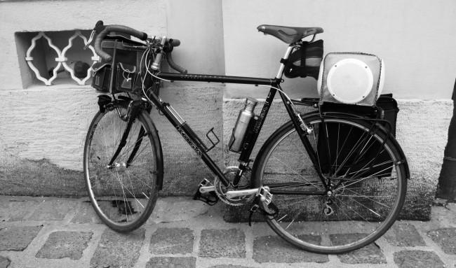 mein Rad mit Musik-Anlage
