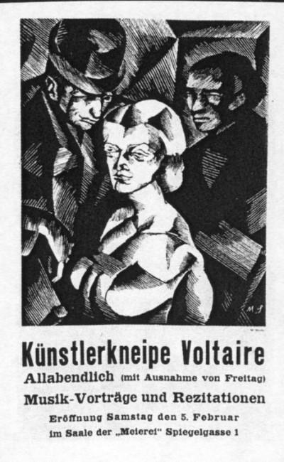 © Marcel Słodki, Caberet Voltaire Poster 1916.