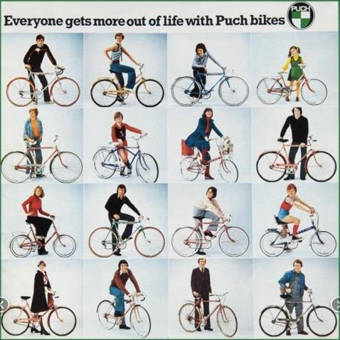 Katalog Ausschnitt, 1969er Jahre, Slg. Ehn, Fahrradmuseum Sigmundsherberg